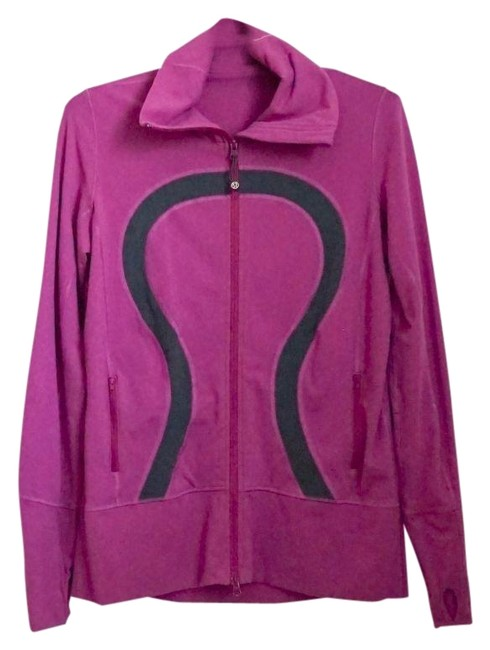 Item - Purple Full Zip Collared Activewear Outerwear Size 12 (L)