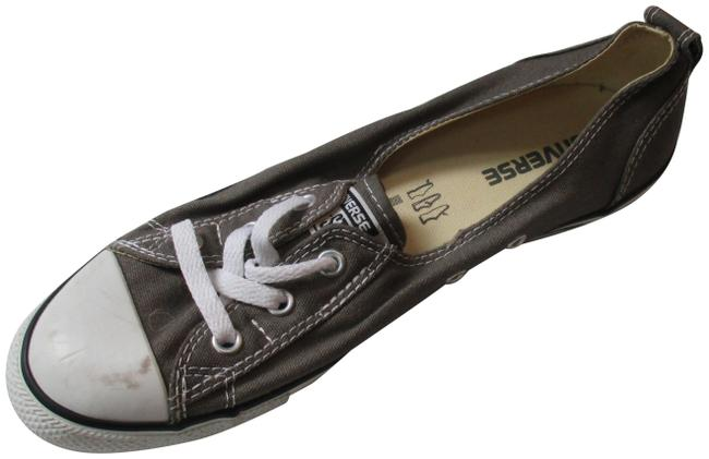 Item - Taupe Khaki Brown Canvas White Tipped Toe White Front Lace-up Sneakers Size US 9 Regular (M, B)
