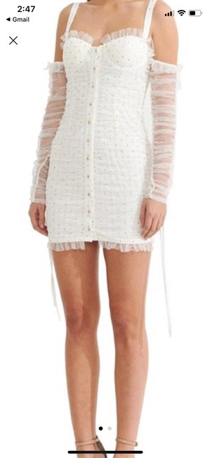 Asilio White Short Night Out Dress Size 4 (S) Asilio White Short Night Out Dress Size 4 (S) Image 1