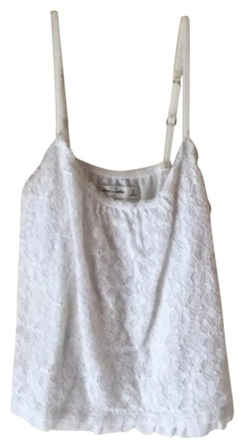 Abercrombie & Fitch Lace Casual Crochet Crop Top White
