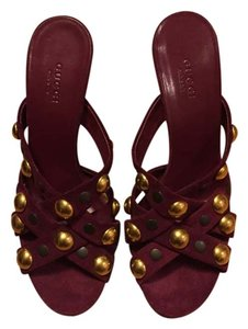 Gucci Burgundy Sandals