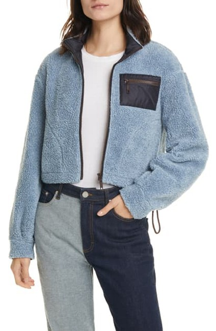 Item - Blue Jose Fleece Crop In Dusty Skyway Jacket Size 12 (L)