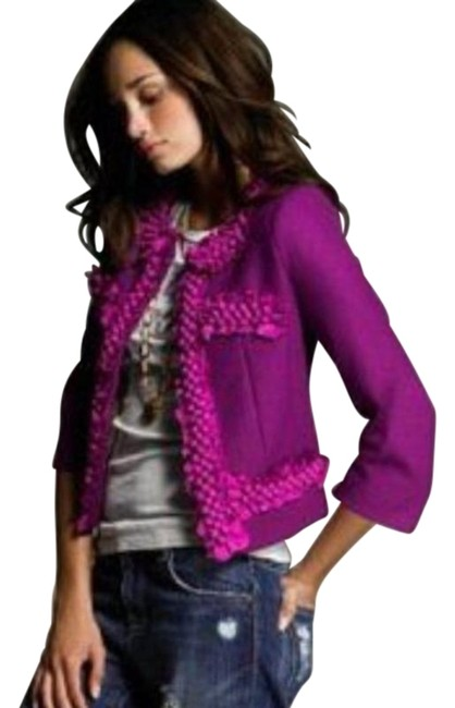 Item - Plum Astrid Berries In Blazer Size 6 (S)