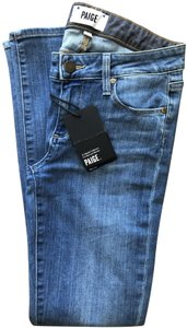 Paige New With Tags Skinny Jeans-Medium Wash