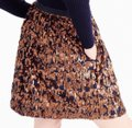 J.Crew Bronze and Navy Blue Abstract Sequin Skirt Size 4 (S, 27) J.Crew Bronze and Navy Blue Abstract Sequin Skirt Size 4 (S, 27) Image 2