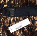 J.Crew Bronze and Navy Blue Abstract Sequin Skirt Size 4 (S, 27) J.Crew Bronze and Navy Blue Abstract Sequin Skirt Size 4 (S, 27) Image 3