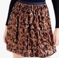 J.Crew Bronze and Navy Blue Abstract Sequin Skirt Size 4 (S, 27) J.Crew Bronze and Navy Blue Abstract Sequin Skirt Size 4 (S, 27) Image 4