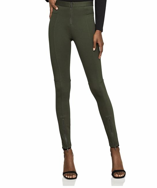 Item - Deep Olive Christopher Zip-detail Moto Leggings Size 8 (M, 29, 30)