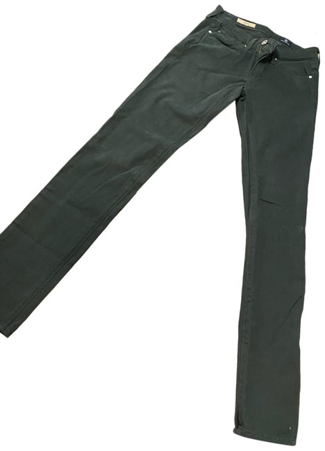 Item - Dark Green Rinse Cigarette Straight Leg Jeans Size 00 (XXS, 24)