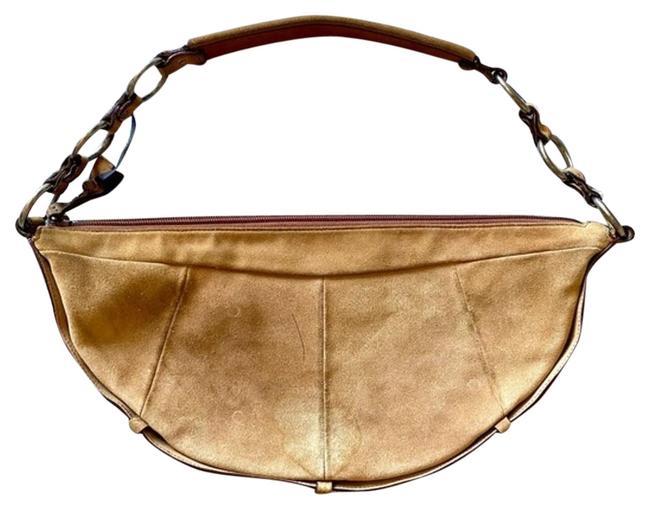 Item - Yves Tan Suede Leather Hobo Bag