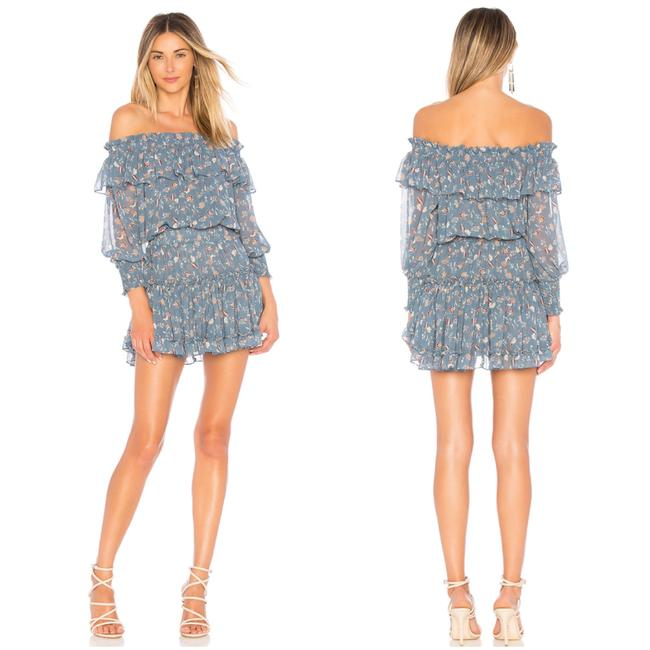 Item - Blue Katryna Off-shoulder Ruffle Tier Short Cocktail Dress Size 4 (S)