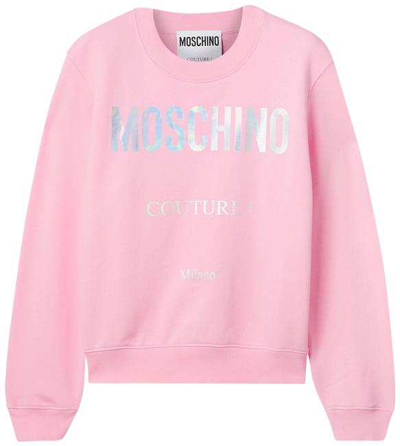 Item - Pink Jersey Printed Cotton-jersey It44 Sweatshirt/Hoodie Size 8 (M)