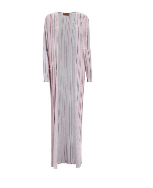 Item - Lilac Lured Striped Duster Jacket Size 4 (S)