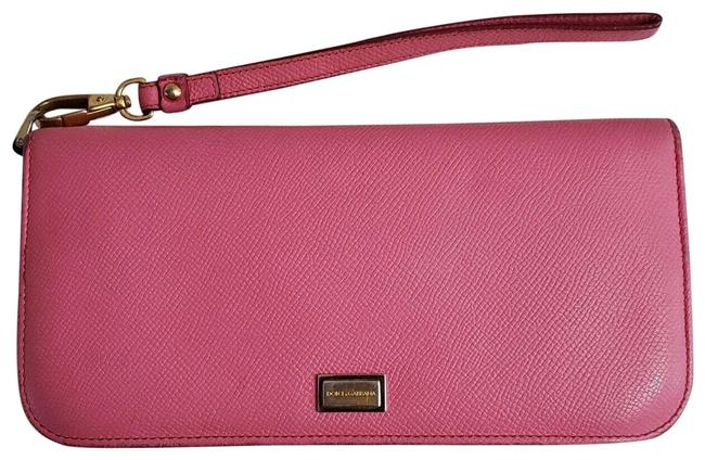 Dolce&Gabbana Dauphine Wallet Pink Leather Wristlet Dolce&Gabbana Dauphine Wallet Pink Leather Wristlet Image 1