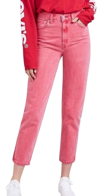 Item - Red Medium Wash Pink Vintage Inspired High Waisted Skinny Jeans Size 8 (M, 29, 30)