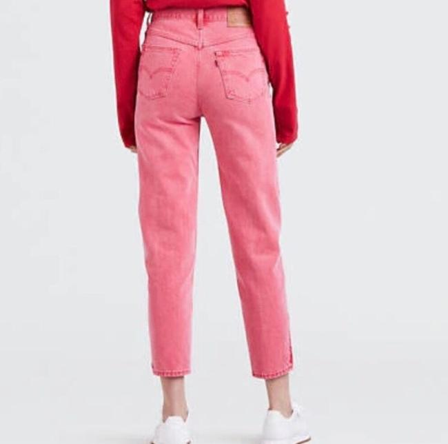 Levi's Red Medium Wash Pink Vintage Inspired High Waisted Skinny Jeans Size 8 (M, 29, 30) Levi's Red Medium Wash Pink Vintage Inspired High Waisted Skinny Jeans Size 8 (M, 29, 30) Image 2