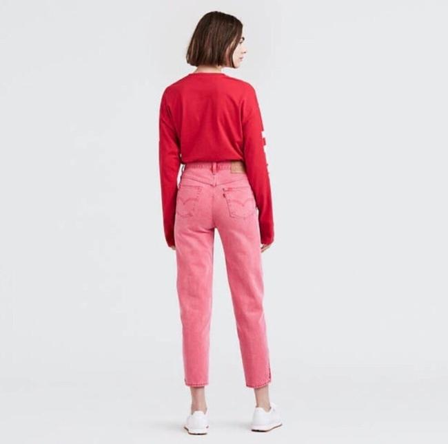 Levi's Red Medium Wash Pink Vintage Inspired High Waisted Skinny Jeans Size 8 (M, 29, 30) Levi's Red Medium Wash Pink Vintage Inspired High Waisted Skinny Jeans Size 8 (M, 29, 30) Image 3
