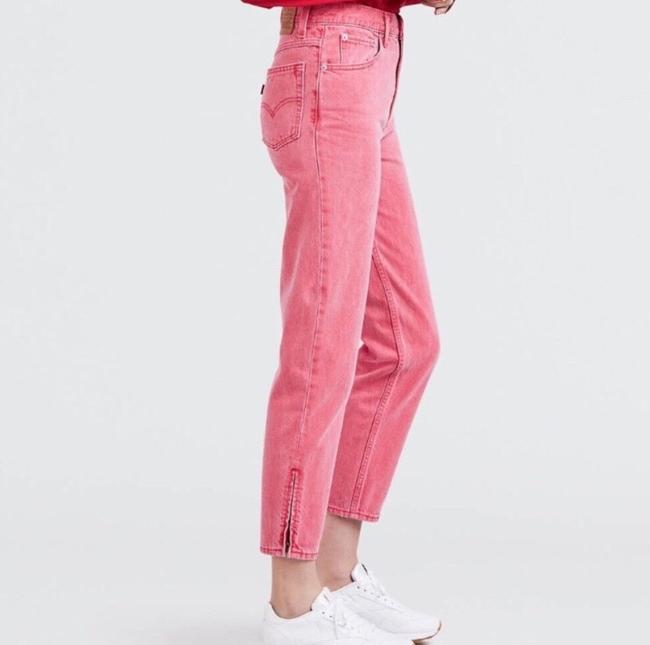 Levi's Red Medium Wash Pink Vintage Inspired High Waisted Skinny Jeans Size 8 (M, 29, 30) Levi's Red Medium Wash Pink Vintage Inspired High Waisted Skinny Jeans Size 8 (M, 29, 30) Image 4