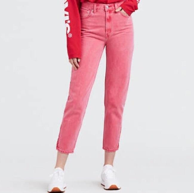 Levi's Red Medium Wash Pink Vintage Inspired High Waisted Skinny Jeans Size 8 (M, 29, 30) Levi's Red Medium Wash Pink Vintage Inspired High Waisted Skinny Jeans Size 8 (M, 29, 30) Image 5