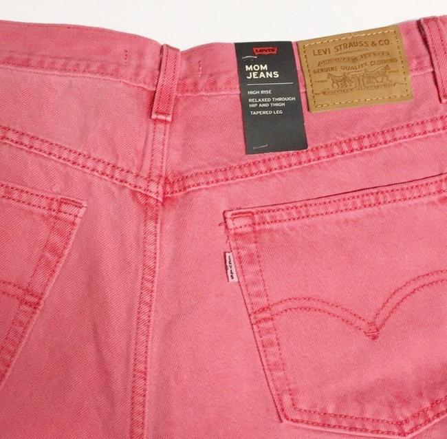 Levi's Red Medium Wash Pink Vintage Inspired High Waisted Skinny Jeans Size 8 (M, 29, 30) Levi's Red Medium Wash Pink Vintage Inspired High Waisted Skinny Jeans Size 8 (M, 29, 30) Image 7