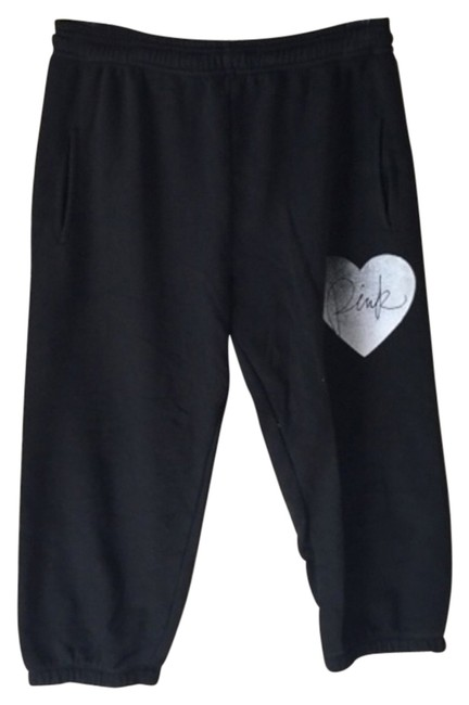 Item - Black Baggy Cropped Banded Sweatpants Sweats Pants Size 2 (XS, 26)