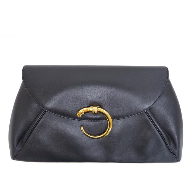 Item - Panther Black Leather Clutch