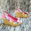 Coach Pink and Tan Grace Wedges Size US 8 Regular (M, B) Coach Pink and Tan Grace Wedges Size US 8 Regular (M, B) Image 4