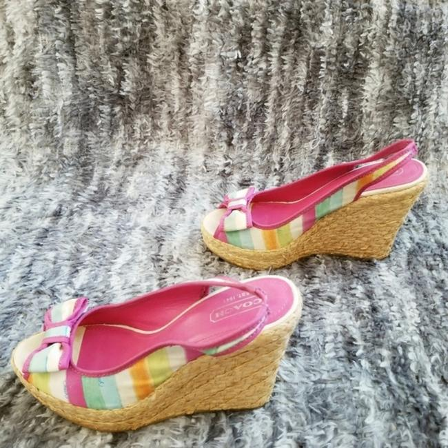Coach Pink and Tan Grace Wedges Size US 8 Regular (M, B) Coach Pink and Tan Grace Wedges Size US 8 Regular (M, B) Image 5