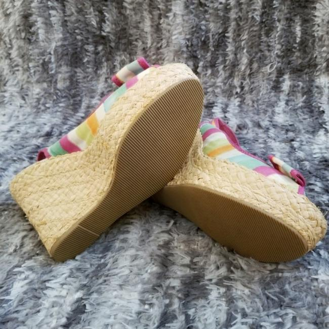 Coach Pink and Tan Grace Wedges Size US 8 Regular (M, B) Coach Pink and Tan Grace Wedges Size US 8 Regular (M, B) Image 7