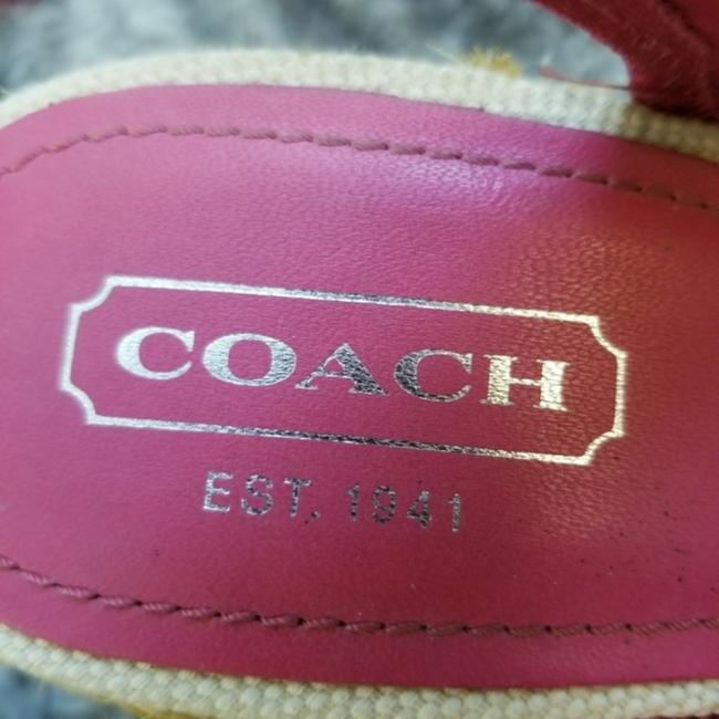 Coach Pink and Tan Grace Wedges Size US 8 Regular (M, B) Coach Pink and Tan Grace Wedges Size US 8 Regular (M, B) Image 8