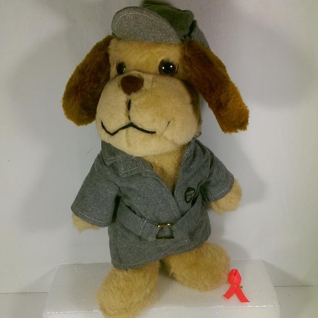 Item - Brown W/Grey Accents Detective Sherlock Holmes Sleuth Hound Plush Dog Groomsman Gift