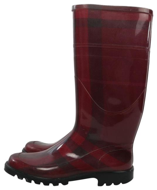 Item - Burgundy Red Rubber Tall Rain Boots/Booties Size US 7 Regular (M, B)
