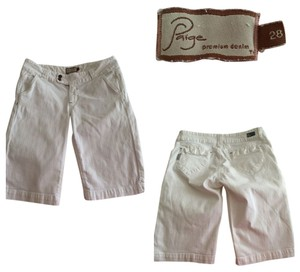 Paige Premium Denim Bermuda Shorts white