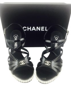 Chanel Black Wedges