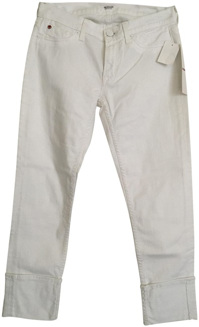 "Item - White Crop Muse Skinny with 5"" Cuff Capri/Cropped Jeans Size 27 (4, S)"