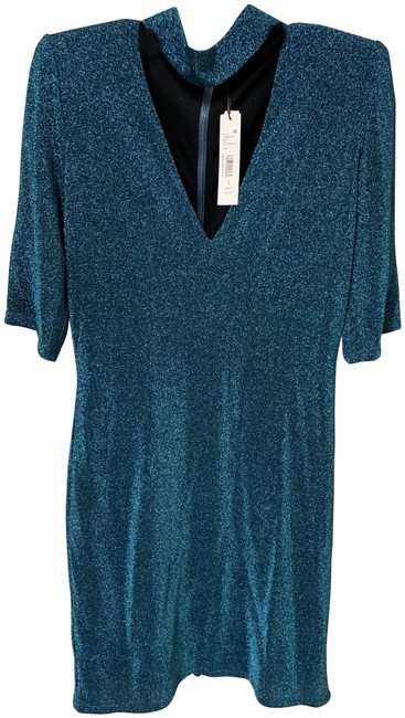 Item - Blue Mid-length Night Out Dress Size 12 (L)