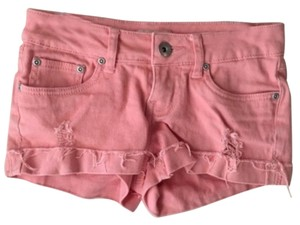 Mudd Ripped Distressed Denim Mini/Short Shorts Peach