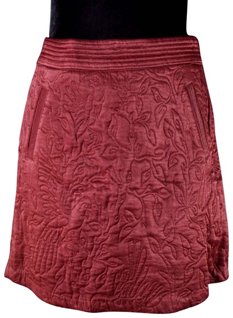 Item - Burgundy Beatrice Quilted New Skirt Size 4 (S, 27)