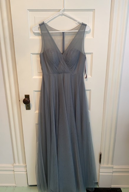 Item - Mayan Blue Tulle Emelie Formal Bridesmaid/Mob Dress Size 4 (S)