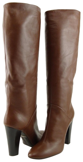 Item - Cojo Wood Brown Design Leather Tall Boots/Booties Size EU 39 (Approx. US 9) Regular (M, B)