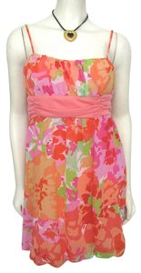BCX short dress Pink New Orange With Tag Summer Spring Multi Color Juniors Size 9 Women Floral Wrap Lilly Pulitzer Style on Tradesy