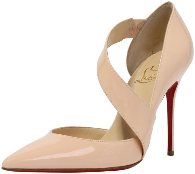 Item - Pink/Poudre Ograde Cross-strap Red-sole Pumps Size EU 38 (Approx. US 8) Narrow (Aa, N)