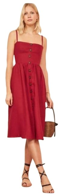 Item - Red Tori Mid-length Casual Maxi Dress Size 12 (L)