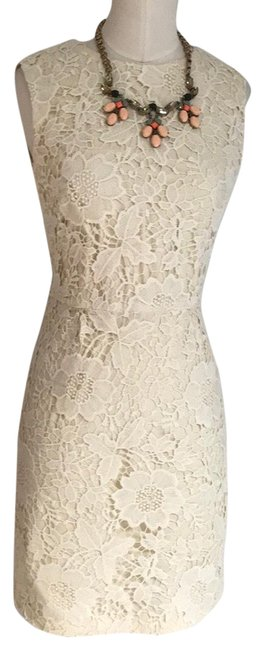 Item - Cream Open Back Lace Short Cocktail Dress Size 4 (S)