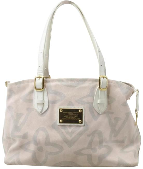 Item - Cabas Limited Edition Rose Tahititenne Pm 859907 Pink Canvas Tote