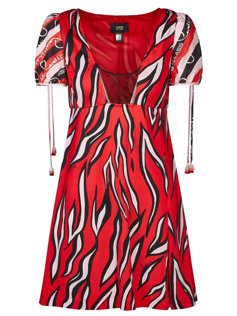 Cavalli Class Red #67337 Short Casual Dress Size 4 (S) Cavalli Class Red #67337 Short Casual Dress Size 4 (S) Image 1
