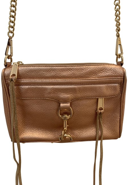 Item - Shoulder/Cross Rose Gold with Gold Hardware Leather Cross Body Bag