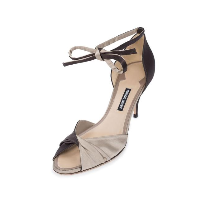 Item - Brown New Women Satin Upper & Leather Mid Heel Ankle Tie D'orsay Sandals Size US 11 Regular (M, B)