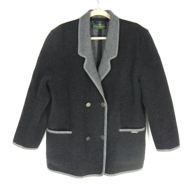 Item - Gray Boiled Wool Coat Size 10 (M)