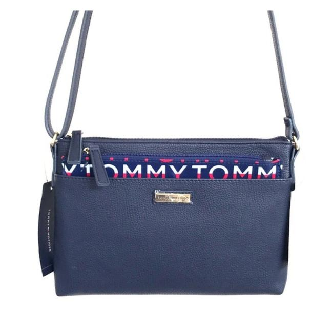 Item - Twice As Navy Blue Faux Leather Cross Body Bag